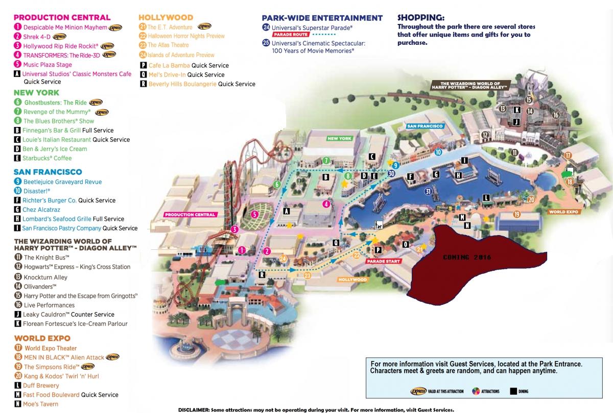 Orlando Universal Studios Florida Map SouthTracks Orlando Florida - Florida map orlando area