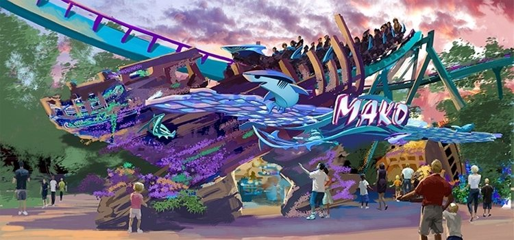 Mako B&M Hyper Coaster at SeaWorld Orlando!