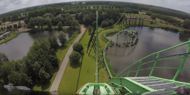 NEW 4K POV Video of Goliath at Walibi!