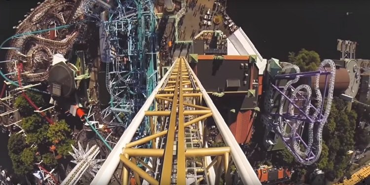 POV Video of Ikaros Drop Tower!