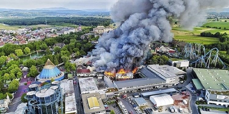 Big Fire at Europa Park, Germany!