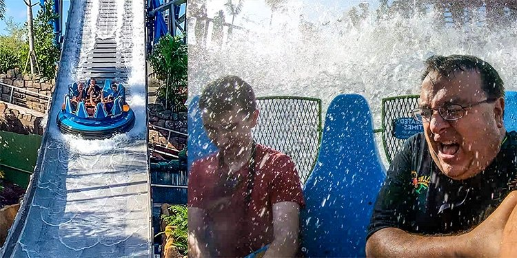 POV Video of Infinity Falls--SeaWorld Orlando!